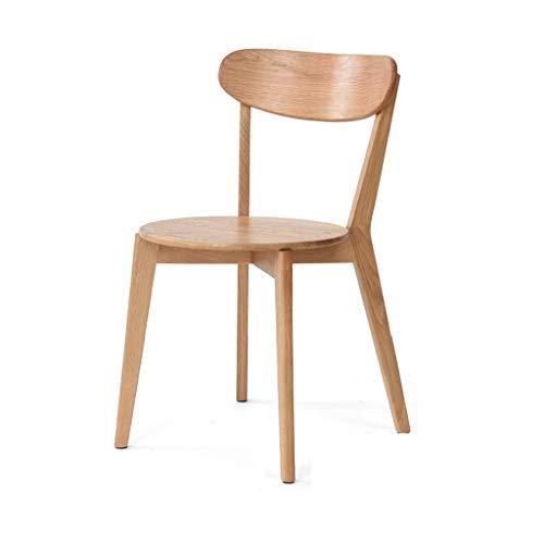 TXXM Silla de escritorio simple para estudiantes y silla de maquillaje, taburete de ordenador para la parte trasera del hogar (color: madera)