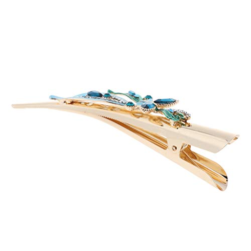 SM SunniMix Damen Haarspange Haar Klammer Spange Krokodil-Haarclips aus Metall - Blau