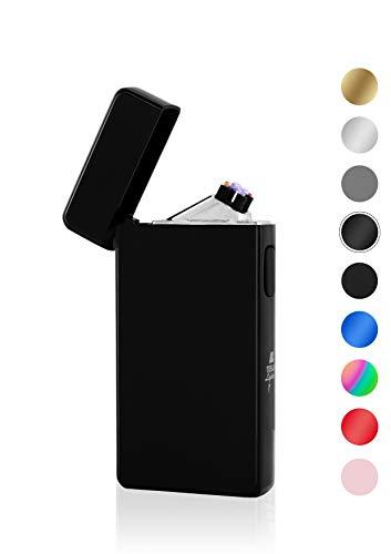 TESLA Lighter T13 Lichtbogen-Feuerzeug, elektronisches USB Feuerzeug, Double-Arc Lighter, wiederaufladbar, Schwarz