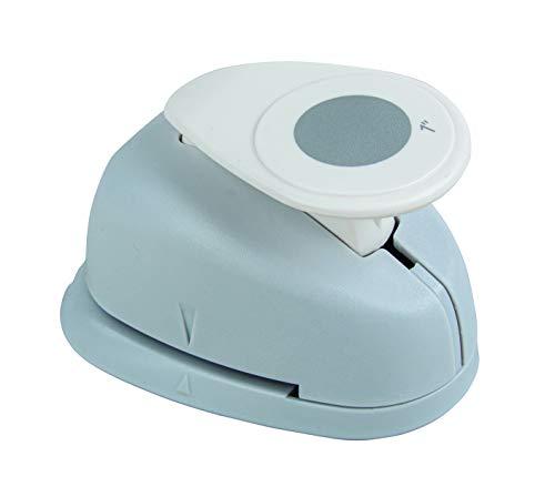 Rayher Hobby 8959800 Motivstanzer Rund/Kreis, ø 2,54 cm- 1 Zoll, geeignet für Papier/Karton bis zu 200g/m²
