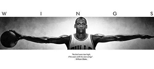 (72x23) Michael Jordan (Wings Door) Sports Poster Print