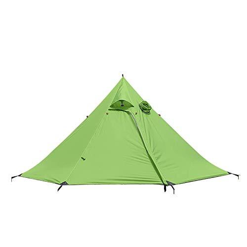 Carpa para Camping Tienda De Campa?a Piramidal Tienda De Campa?a para Acampar De 3 O 4 Personas para La Playa Camping Senderismo Pesca (Size:One Size; Color:Green)