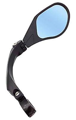 Hafny 2019 New Handlebar Bike Mirror, HD,Blast-Resistant, Glass Lens, HF-MR088LS (Anti-Glare Blue Right)