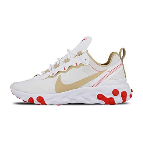 Nike Mädchen W React Element 55 Leichtathletikschuhe, Mehrfarbig (White/Desert Ore/White/Ember Glow 000), 35.5 EU