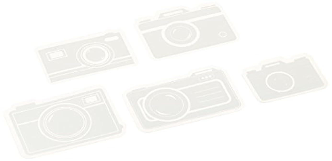 Maya Road Transparencies Die-Cuts, Picture Perfect Cameras, White, 15-Pack yvp3609567