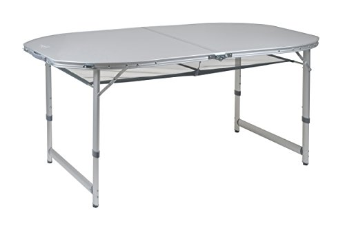 Bo-Camp Campingmöbel BC Tisch Premium, oval, 150x 80 cm, grau