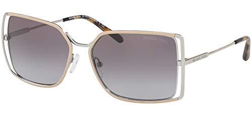 Michael Kors Gafas de sol MK1053 ISLAS de ORO 115311 gris plata tamaño de 58 mm de gafas de sol de las mujeres