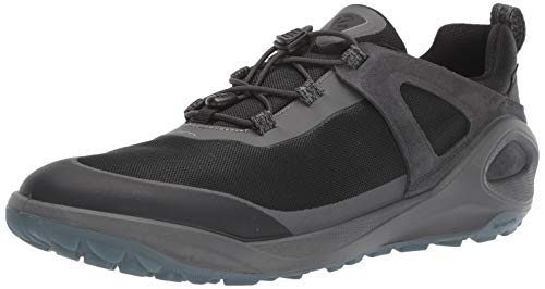 ECCO mens Biom 2go Speed Lace Gore-tex Hiking Shoe, Dark Shadow/Titanium/Black Textile, 9-9.5 US
