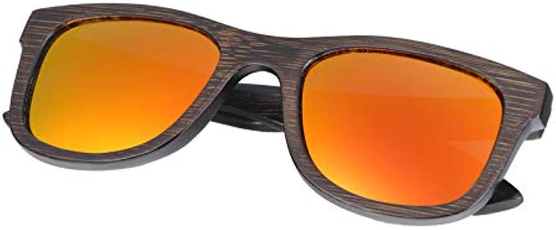 SFNJL Bamboo Sunglasses Polarized Sunglasses Popular Wooden Sunglasses Frame Handmade
