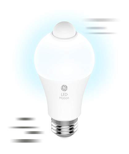 GE Lighting LED+ Outdoor Light Bulbs with Motion Sensor Light, 75-Watt Replacement, Daylight, 2-Pack