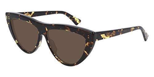 Bottega Veneta New-Classic BV1018S 002 Sunglasses Women's Havana/Brown Lens 57mm