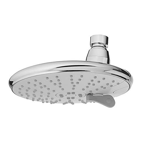 ALYHYB Duchas de lluvia de cromo cepillado cabezal de ducha ajustable de alta presión, redondo, 4 ajustes de rociado fijos con boquilla autolimpiadora y ahorro de agua