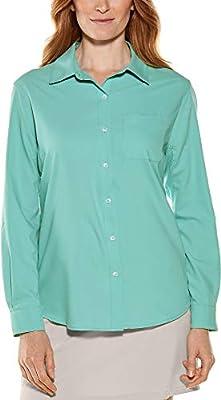 Coolibar UPF 50+ Women's Aricia Sun Shirt - Sun Protective (X-Large- Seafoam Fog)