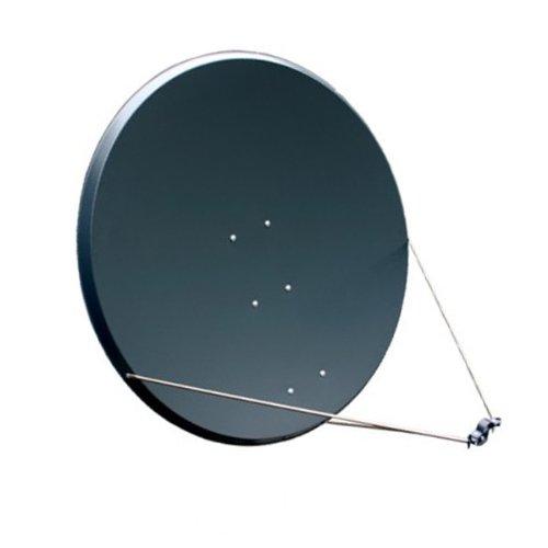 PremiumX Antenne PXS125 Stahl 125 cm, Digital Sat Schüssel Spiegel in Anthrazit FULLHD HDTV 3D Tauglich NEU