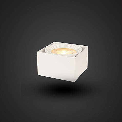 Surface Mounted Licht, zwart wit COB Square Light 12W LED-plafondlamp Indoor LED-verlichting neutraal licht wit