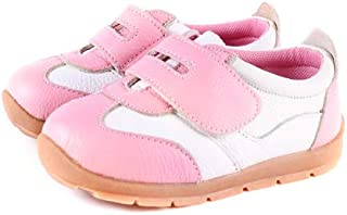 SandQ baby Girls Pink Leather Trainers