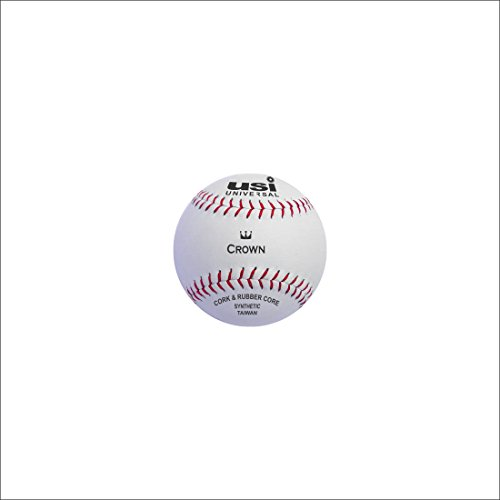 USI Universal Synthetic Crown Baseball, 9in (White)