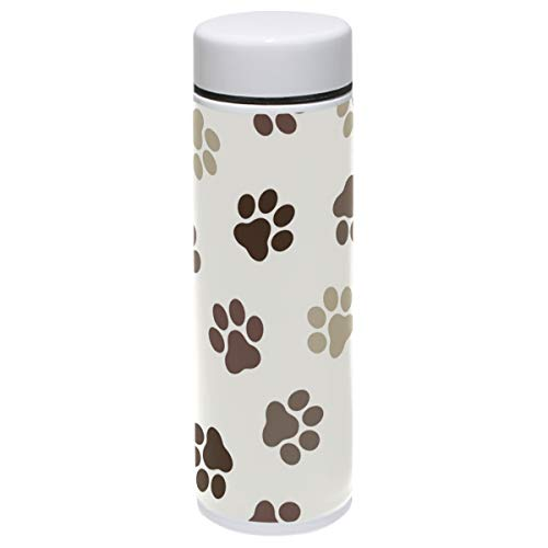 Dog Thermos Vacuum Insulated Bottle,Colorful Puppy Dogs Animals Paws 304 Stainless Steel Water Bottle for Kids Adult,BPA Free Coffee Travel Mug Cup Mini 7.5 Oz Best Birthday Christmas Gifts