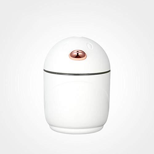 CYR Mini humidificador del USB del hogar del humidificador, Mini difusor Recargable Elegante del Aroma para el Dormitorio de la Oficina del Coche,Blanco