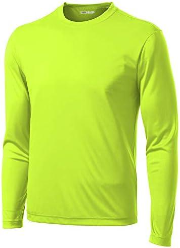 DRI-Equip Long Sleeve Moisture Wicking Athletic Shirts