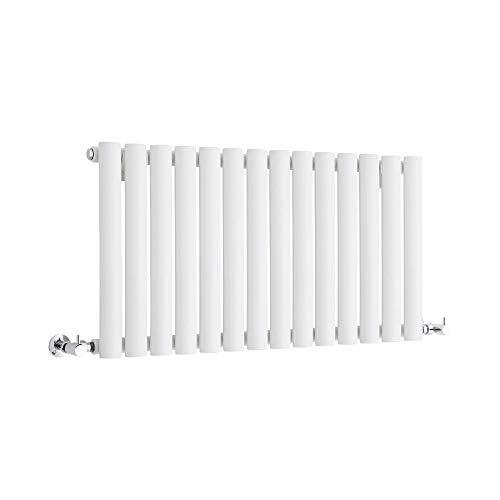 Hudson Reed Revive Radiatore Termoarredo di Design Orizzontale Moderno - Termosifone con Finitura Bianca - 569W - 400 x 834mm - Riscaldamento ad Acqua Calda