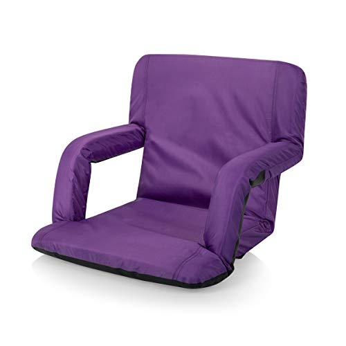 ONIVA - a Picnic Time brand Ventura Reclining Stadium Seat for Bleachers with Back Support, Purple