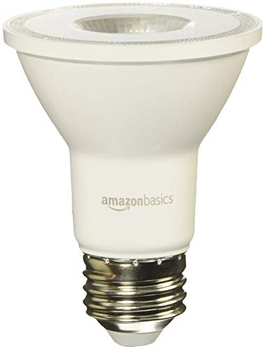 AmazonBasics 50 Watt Equivalent, Daylight, Dimmable, PAR20 LED Light Bulb   6-Pack