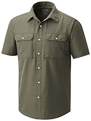 Mountain Hardwear Men's Canyon Short Sleeve Shirt - Surplus Green - Small