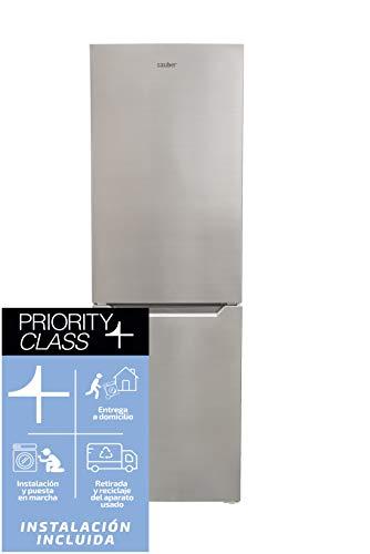 Sauber - Frigorífico Combi SC186I TOTAL Tecnología NOFROST - Eficiencia energética: A+ - 185x60cm - Acero inoxidable