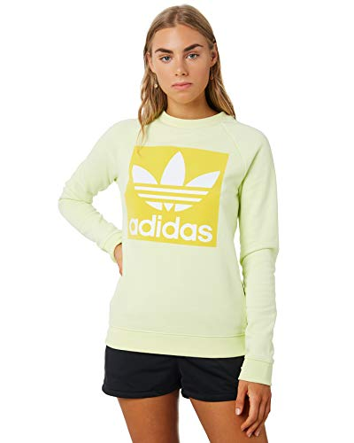 adidas Damen Trefoil Crew Sweatshirts Gelb, 34