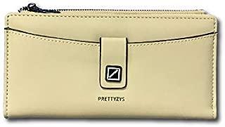 PRETTYZYS Women Solid Two FOLD Wallet (Cream)