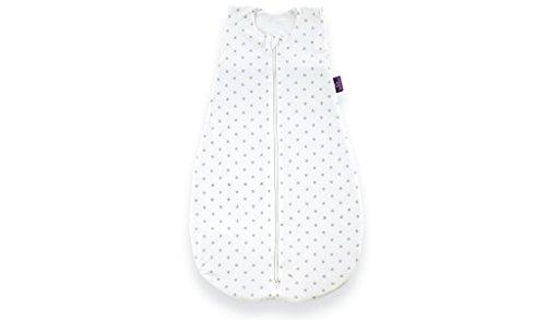 Träumeland S0200102 Sommerschlafsack LIEBMICH aus Baumwolle, Design Sternchen grau, Größe 60 cm, weiß