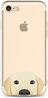 iPhone 8 Plus / 7 Plus Compatible, Cat Dog Cute Series Colorful Rubber Flexible Silicone Case Bumper Clear Cover Case - Golden Retriever