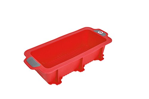 Bakeware Silicone Gela Loaf Pan For Baking, The Ideal Choice For Cakes, Bread And More – Loaf Pan Red