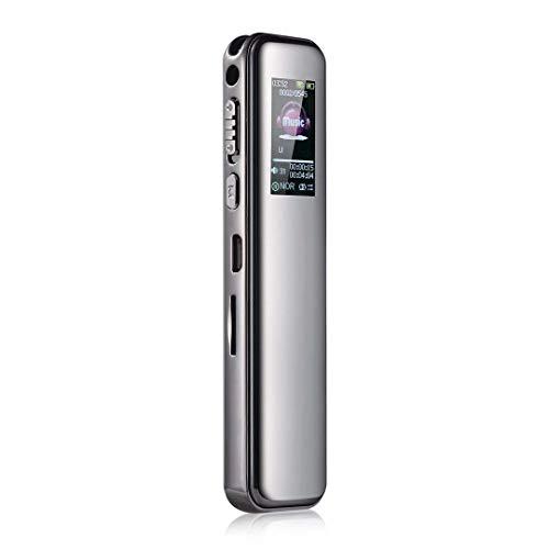 Lsmaa Grabadora digital, reproductor Mp3 sin pérdidas y conexión de computadora protegida por contraseña, se utiliza para entrevistas de manga de conferencias (capacidad: 8 GB)