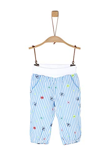 s.Oliver RED LABEL Unisex - Baby Lockere Stoffhose mit Embroidery light blue AOP 80.REG