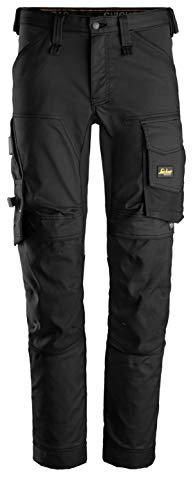 Snickers Workwear AllroundWork, 6341, Arbeitshose mit praktischen Taschen (Schwarz, 54)