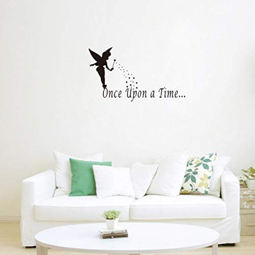 Érase una vez Pegatinas de pared de hadas Decoración del hogar DIY Vinilo de pared desmontable para dormitorio de bebé
