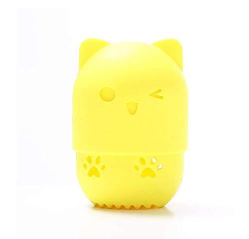 KUSAWE Éponge de maquillage Étui de séchage pour œufs de Maquillage en éponge Portable en Silicone Souple Mélangeur cosmétique Porte-boîte en éponge R