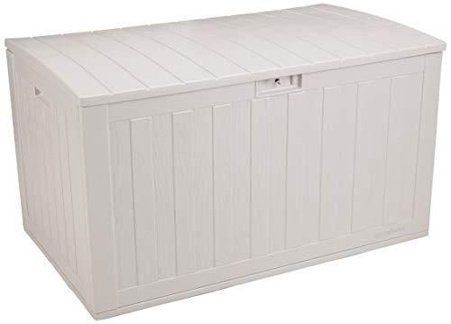AmazonBasics 134-Gallon Resin Deck Storage Box, Grey