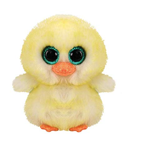 Claire's Ty Beanie Boo Lemon Drop the Chick Soft Plush Toy for Girls, Yellow, Small, 6 Inches