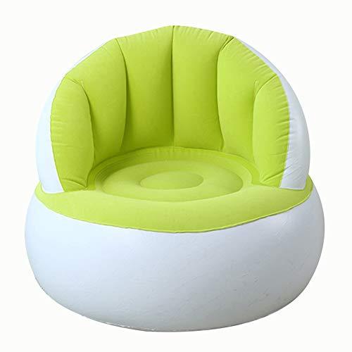 Unityoung Kinder Beflockter Sessel Pouf mit Rückenlehne aufblasbar, weiches Sofa für Kinder