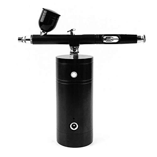 Queen.Y Mini aerógrafo Kit 0.3 Compresor de aire portátil Airbrush Set Dual Action Color Airbrush Pistola pulverizadora con compresor Kit para Paint Art Tattoo Nail Design