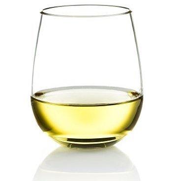 Poolside Unbreakable Stemless Plastic Wine Glasses ~ Elegant Durable Reusable Glassware ~ Sophisticated Design ~ Shatterproof Dishwasher Safe Indoor/Outdoor Barware ~ 100% Tritan ~ Set of 4~16 oz