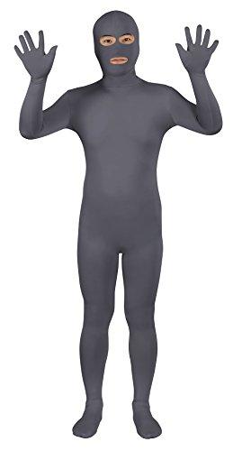 Da Uomo Seconda Pelle Blu Body Full Body Lycra Fancy Dress Party Vestito Costume