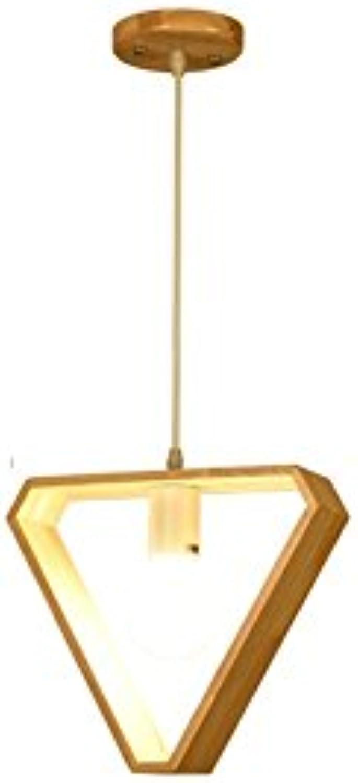 QIYUEQI Holzarbeiten moderne Kronleuchter Holz- gang Restaurant kreative einzelnen Scheinwerfer einstellen Kabellnge 60 cm warmes Licht Dreieck 20  29 cm Deckenleuchte