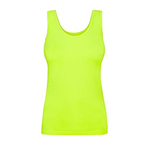Assoluta Damen Tank Top, Größe L, neon gelb
