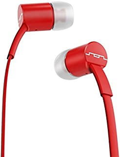 SOL REPUBLIC Jax Wired 1-Button In-Ear Headphones, Android Compatible, Tangle Free Cable, In-Ear Noise Isolation, 4 Ear Tip Sizes, Great For Calls, 1112-33 Red