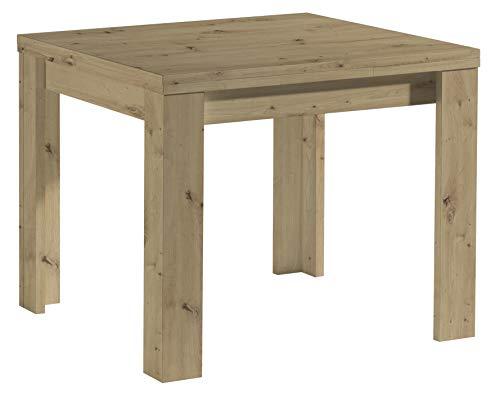 0560_80x60 MONZI Asteiche Eiche Nb. Tisch Esstisch Auszugstisch Küchentisch Funktionstisch ausziehbar 80 x 60 cm