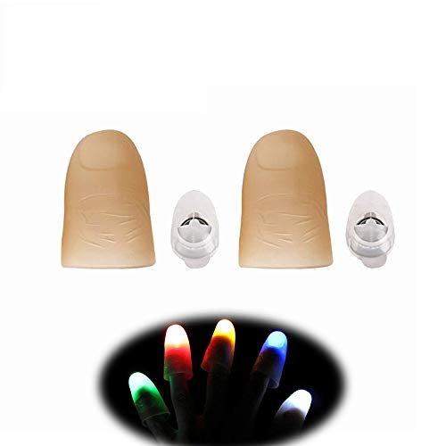 LONGMARCH 5 Pairs Led Magic Prop Finger Light Magic Thumb (Multicolor)